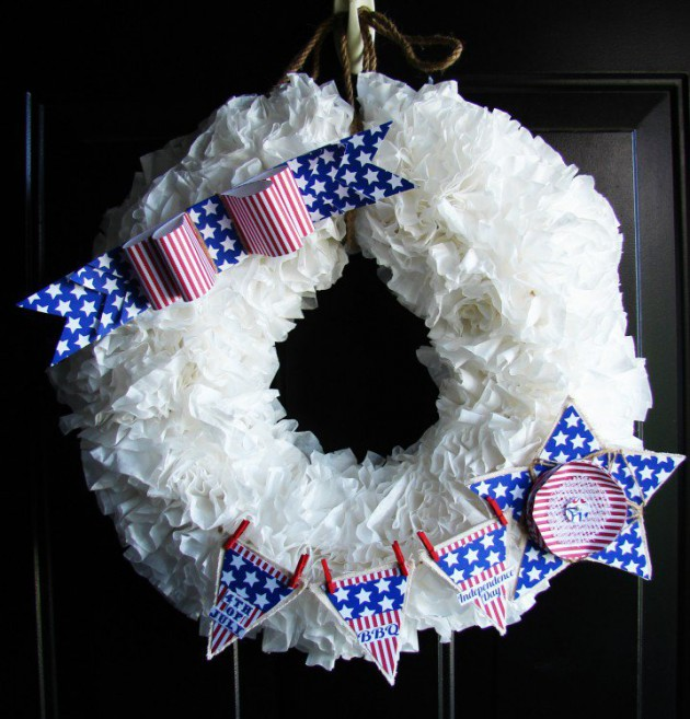 17 Patriotic DIY Wreath Ideas Ready to Welcome Guests Proudly homesthetics ideas (9)