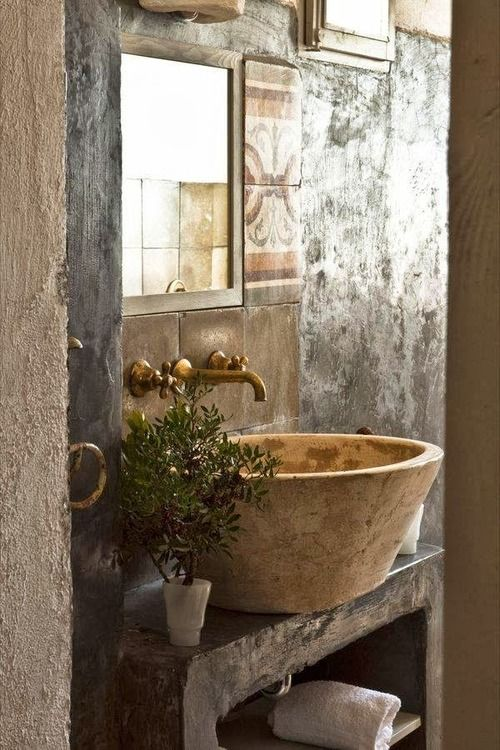 Marvelous  Rustic And Natural Bathroom Inspiration Ideas homesthetics net