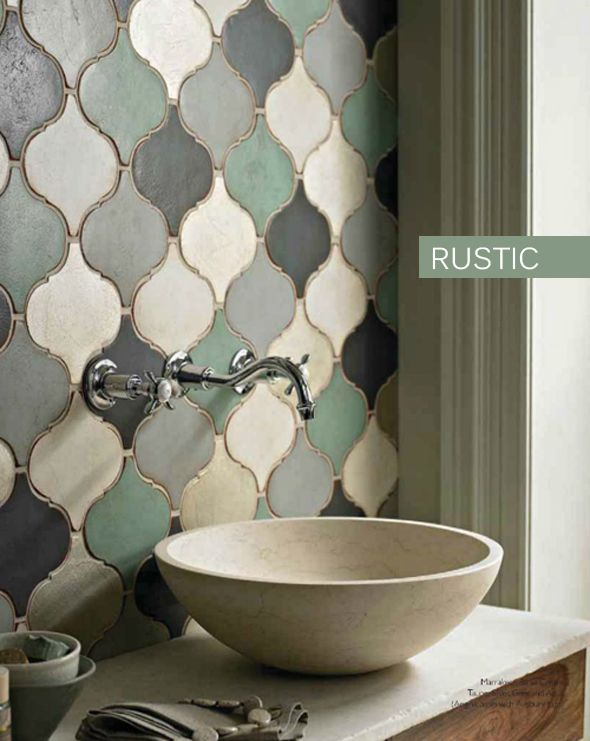 16. We simply adore the green variations of stone tiles used as an accent wall