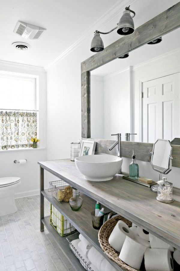 6. A modern take on a traditional natural bathroom using ash grey tones for a relaxing calming atmosphere