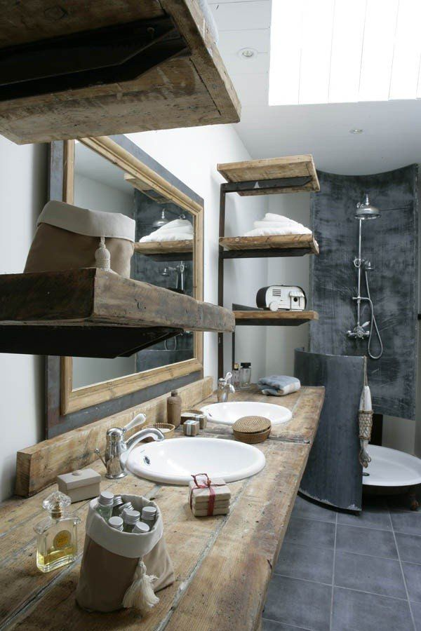 17 rustic and natural bathroom inspiration ideas10 old wood should always be re purposed, its beauty never fading