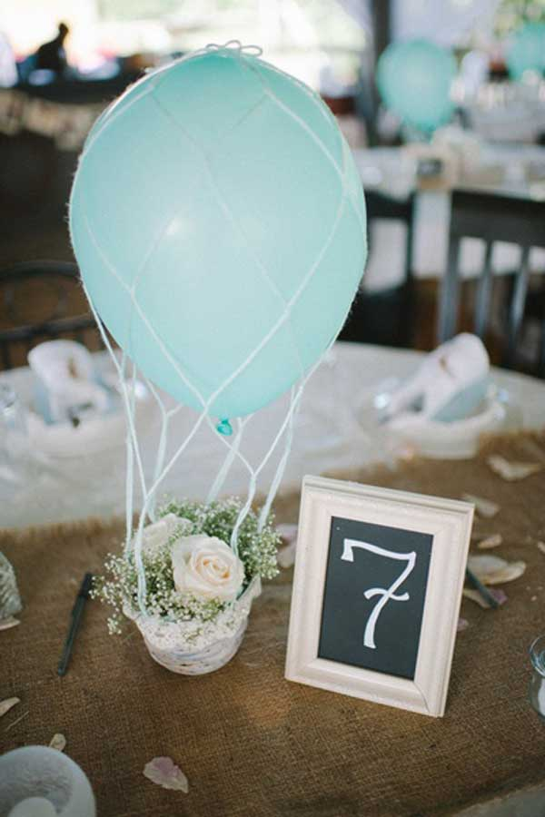 #12 Sensible Hot Air Balloon Wedding Centerpiece