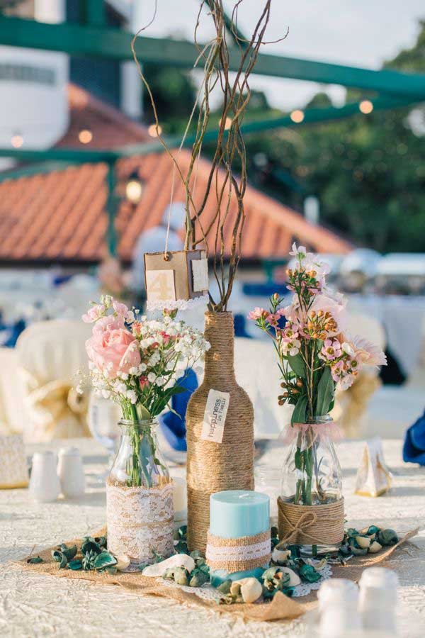 19 splendid summer wedding centerpiece ideas that will for Diy wedding ideas for summer