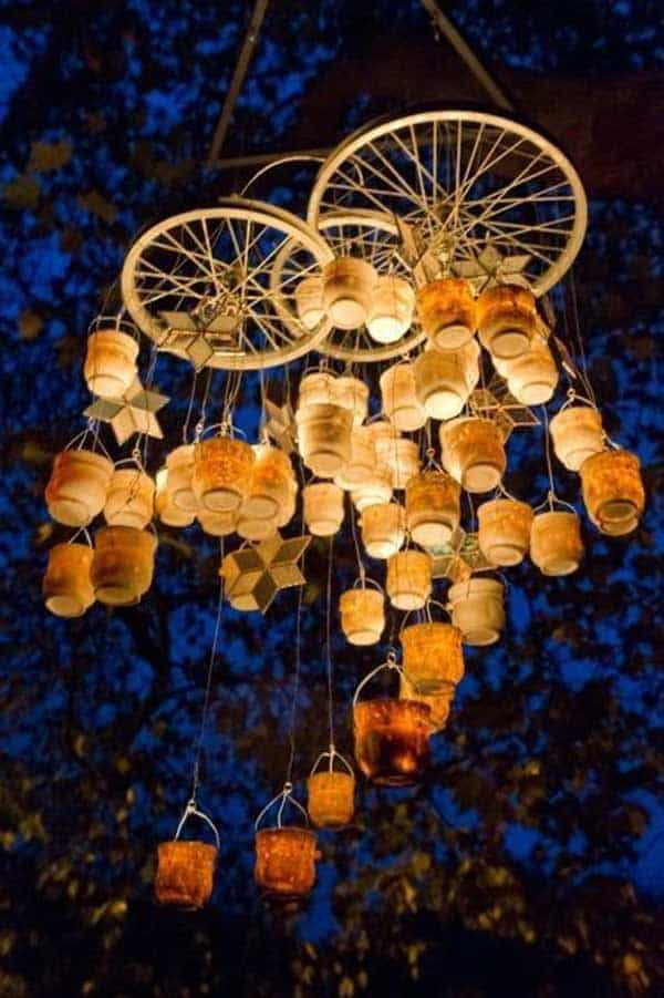 21 Awesomely Creative DIY Crafts Re-purposing Bike Rims  homesthetics upcycling projects (18)