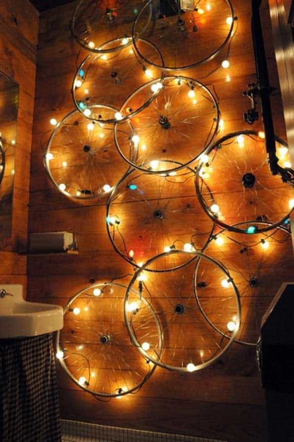 21 Awesomely Creative DIY Crafts Re-purposing Bike Rims  homesthetics upcycling projects (2)