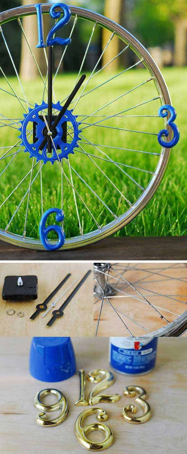 21 Awesomely Creative DIY Crafts Re-purposing Bike Rims  homesthetics upcycling projects (21)