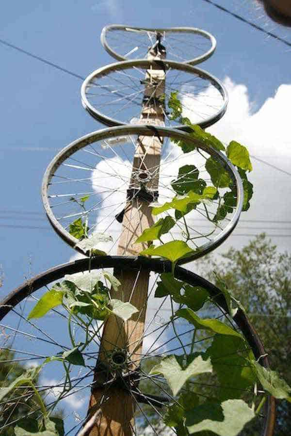 21 Awesomely Creative DIY Crafts Re-purposing Bike Rims  homesthetics upcycling projects (4)