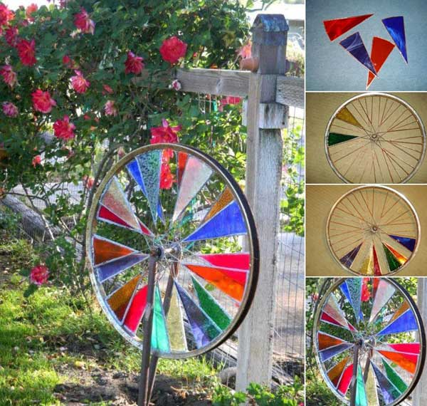 21 Awesomely Creative DIY Crafts Re-purposing Bike Rims  homesthetics upcycling projects (6)