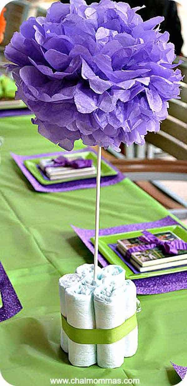 22 Insanely Cretive Low Cost DIY Decorating Ideas For Your Baby Shower Party homesthetics decor ideas (18)