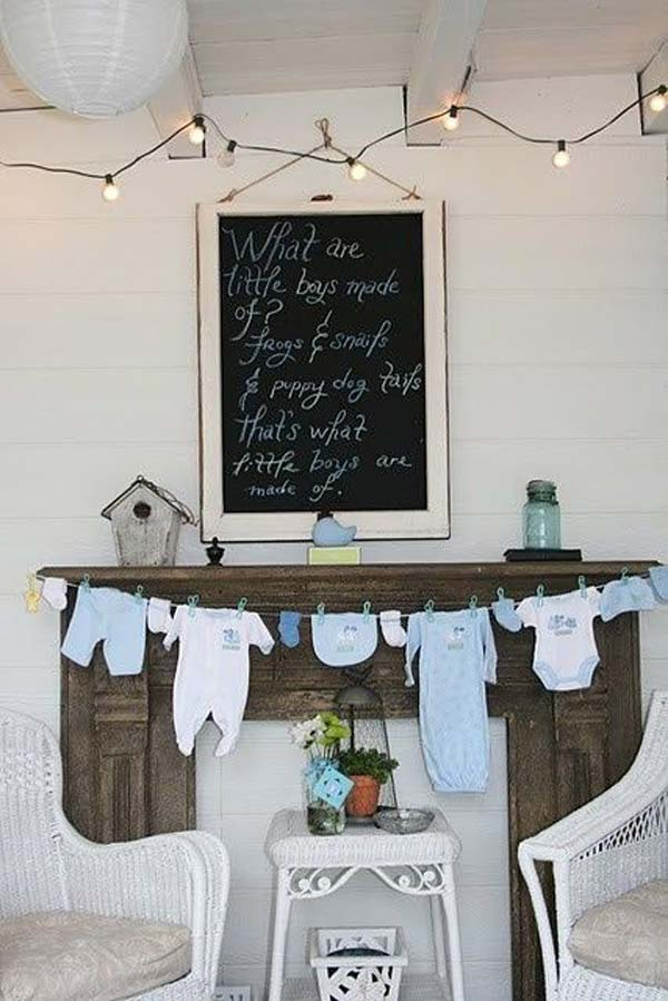 22 Insanely Cretive Low Cost DIY Decorating Ideas For Your Baby Shower Party homesthetics decor ideas (22)