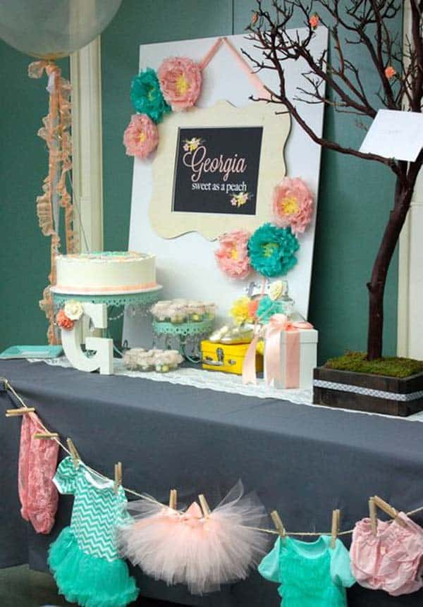 22 Insanely Cretive Low Cost DIY Decorating Ideas For Your Baby Shower Party homesthetics decor ideas (3)