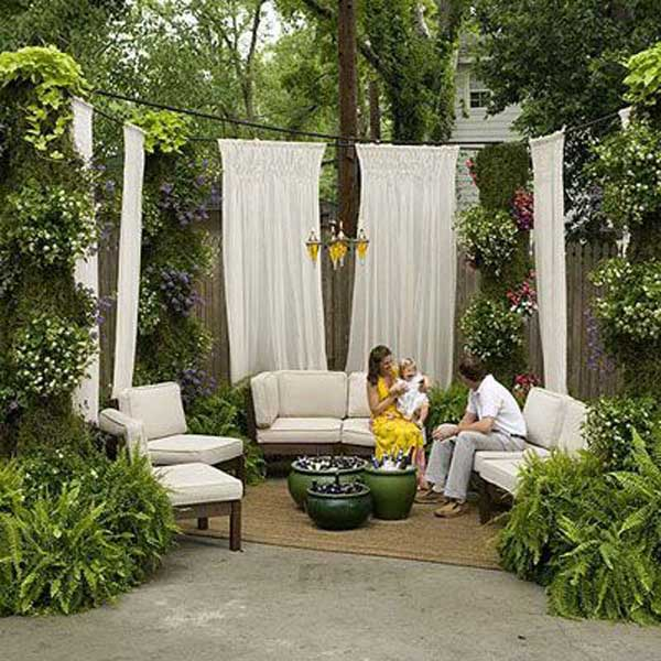 Bon Curtains Nestled In Greenery Providing Privacy
