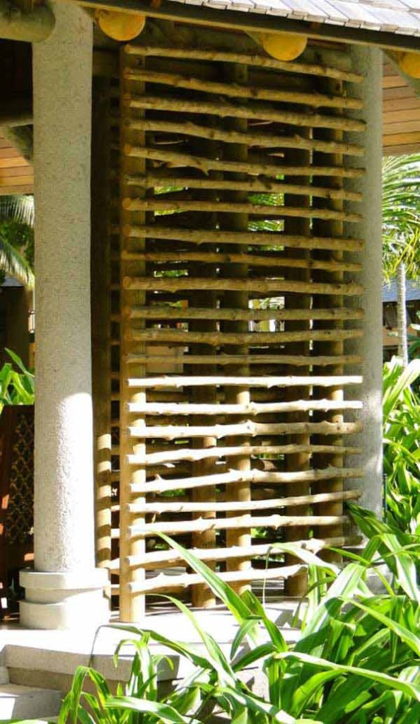 17. USE TREE BRANCHES TO CREATE A PRIVACY SCREEN
