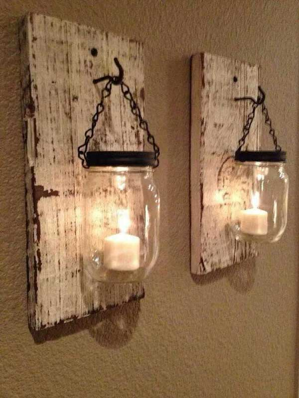 16. COZINESS AND WARMTH IN WOODEN PALLET SCONCES