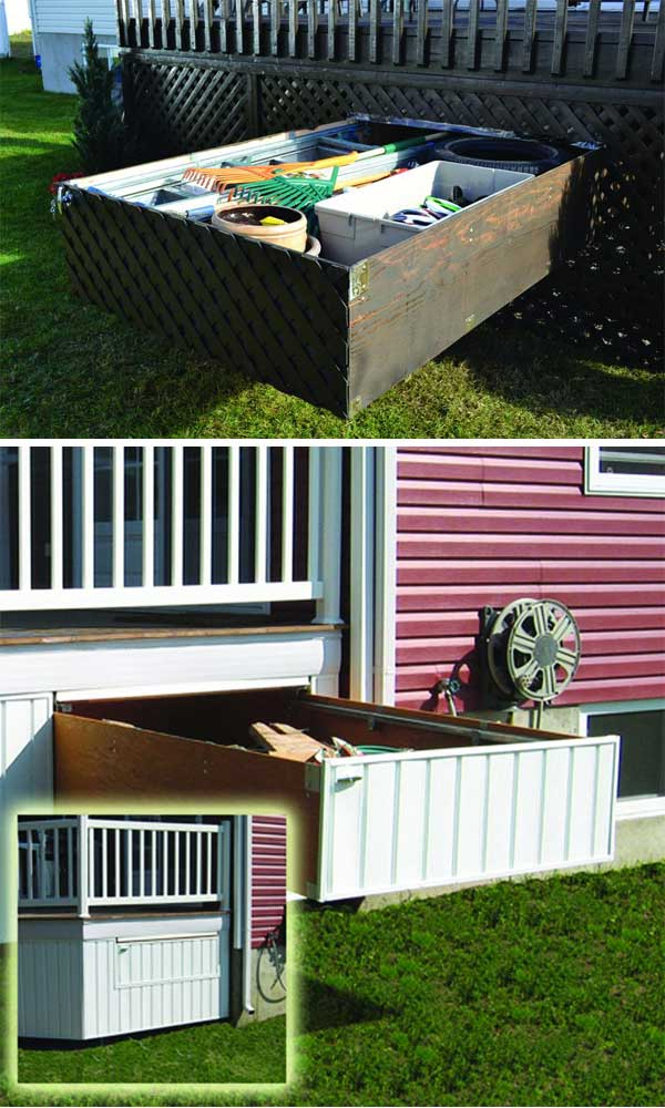 Beau 24 Ingenious And Practical DIY Yard Storage Solutions Homesthetics Outdoor  Diy Storage (18)