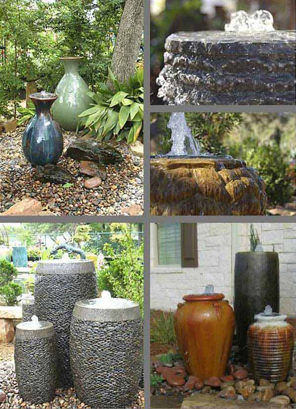 26 wonderful outdoor diy water features tutorials and ideas that various bubble water fountains can do the trick regardless of their shape solutioingenieria