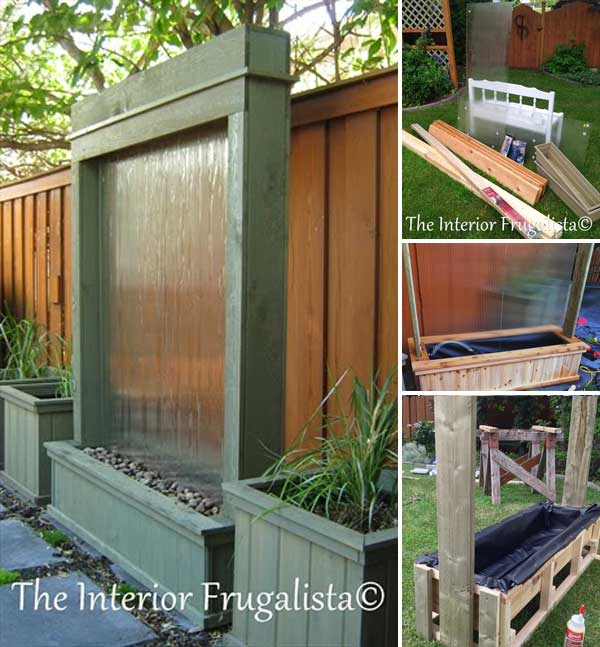 26 wonderful outdoor diy water features tutorials and for Patio water features