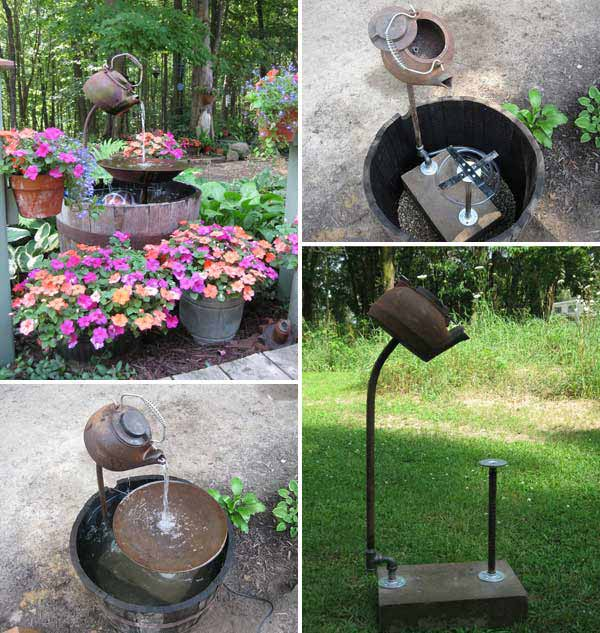 Simple Water Features For The Garden: 26 Wonderful Outdoor DIY Water Features Tutorials And