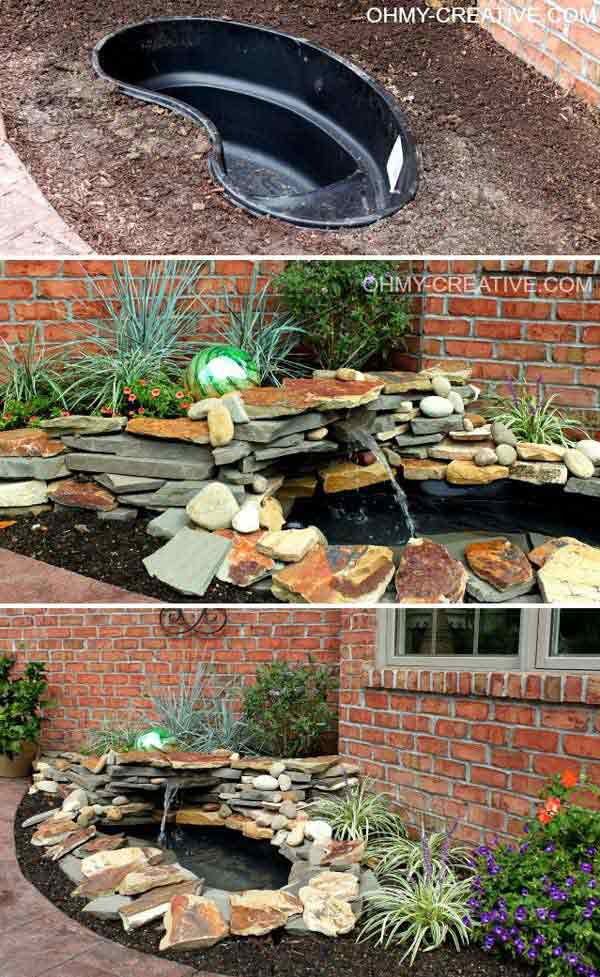 26 Wonderful Outdoor DIY Water Features Tutorials and Ideas That ...