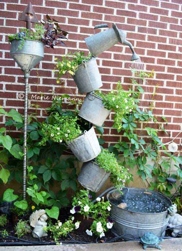 8. WATERING CANS DEFYING THE LAWS OF GRAVITY