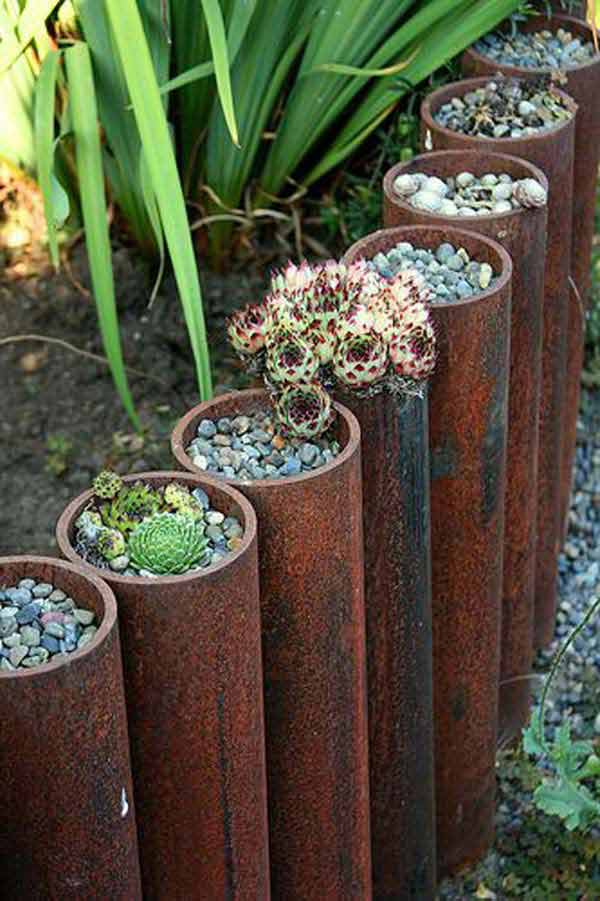 27+ DIY Garden Bed Edging Ideas Ready to Emphasize Your Greenery homesthetics backyard landscaping (10)