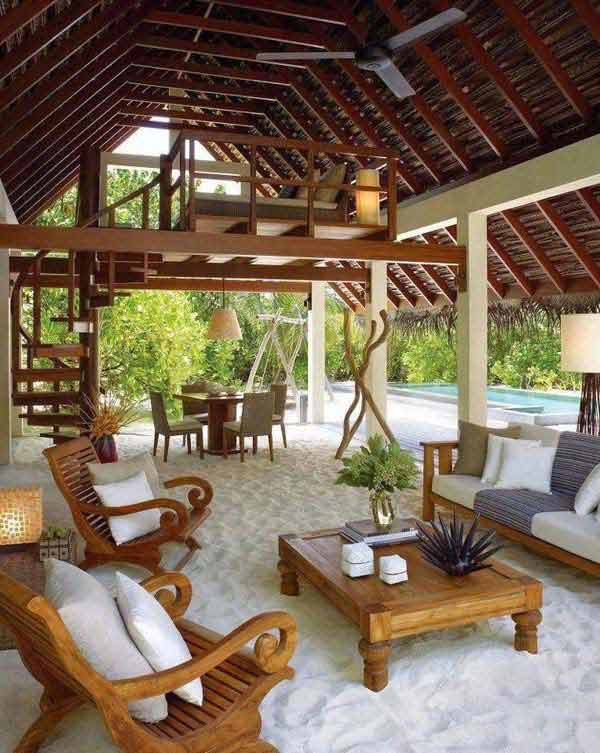 27 Fun and Airy Beach-Style Outdoor Living Design Ideas ... on Amazing Backyard Ideas id=83465