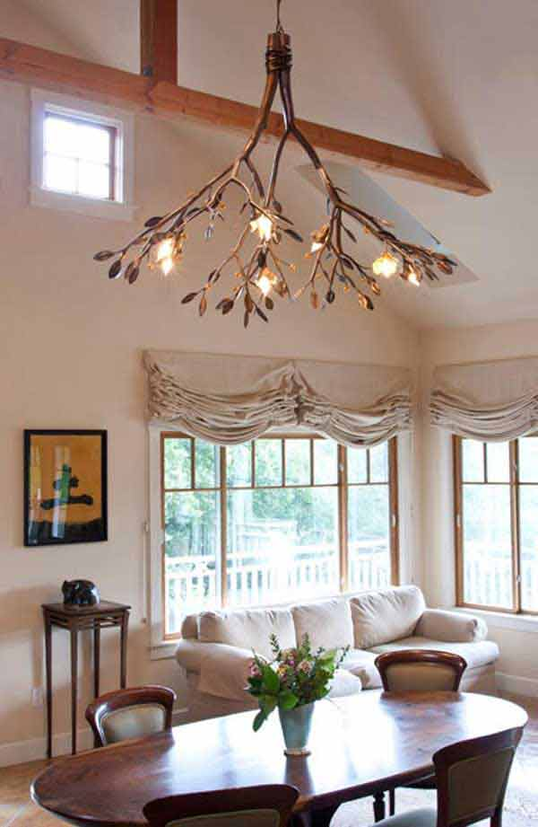 30 Sculptural DIY Tree Branch Chandeliers to Realize In an Unforgettable Setup homesthetics decor (14)