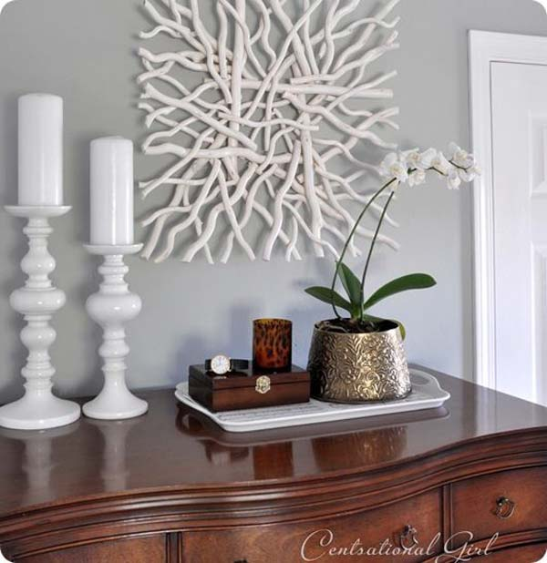 30 Wall Decor Ideas For Your Home: 30 Sensible DIY Driftwood Decor Ideas That Will Transform