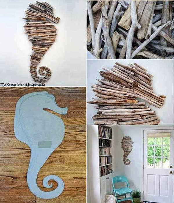 #27 Sea Horse Shaped Wall Art