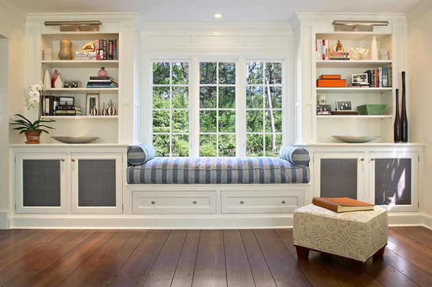 30 Stunning and Mesmerizing Window Seats That Will Beautify Your Home homesthetics window reading nooks (19)