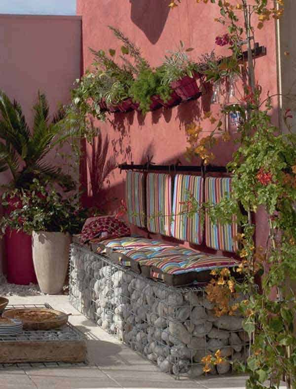 35 Beautiful Garden Benches Projects To Realize This Summer and Emphasize Greenery  homesthetics landscaping (1)