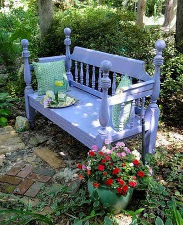 35 Beautiful Garden Benches Projects To Realize This Summer and Emphasize Greenery  homesthetics landscaping (2)