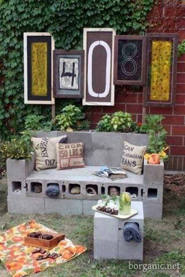 35 Beautiful Garden Benches Projects To Realize This Summer and Emphasize Greenery  homesthetics landscaping (22)
