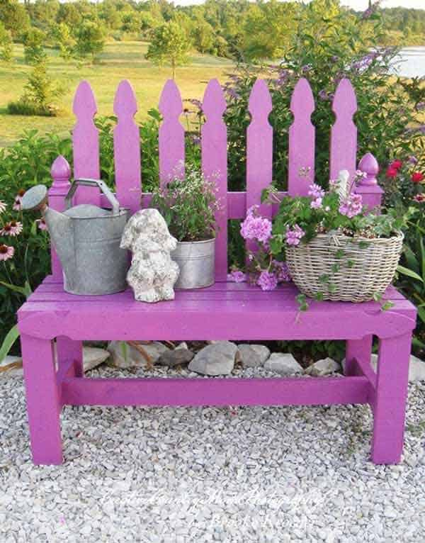 35 Beautiful Garden Benches Projects To Realize This Summer and Emphasize Greenery  homesthetics landscaping (24)