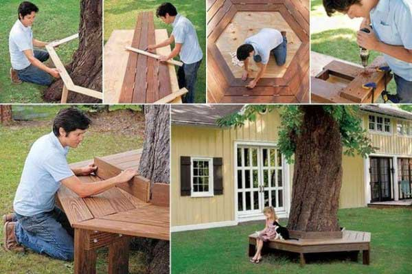 35 Beautiful Garden Benches Projects To Realize This Summer and Emphasize Greenery  homesthetics landscaping (27)