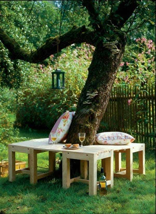 35 Beautiful Garden Benches Projects To Realize This Summer and Emphasize Greenery  homesthetics landscaping (9)