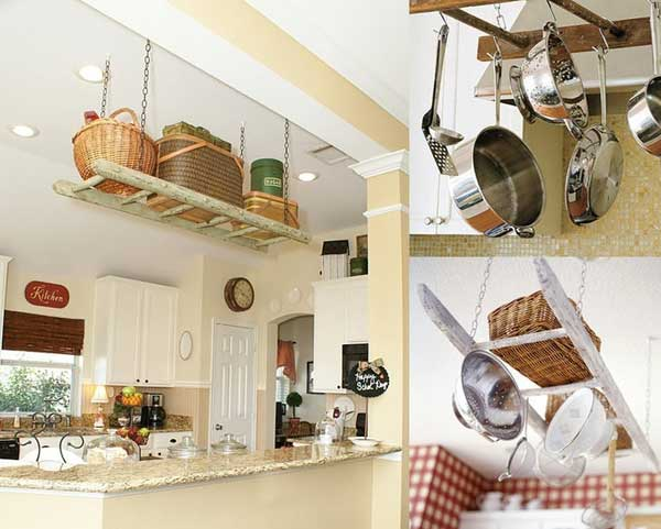 38 Ingenious Ways to Up-cycle Repurpose and Reuse Vintage Ladders homeshetics decor (1)