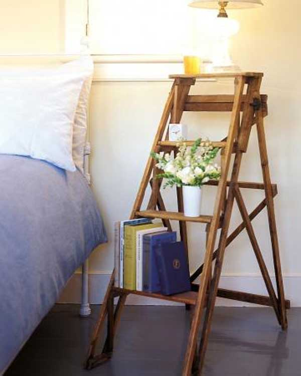 38 Ingenious Ways to Up-cycle Repurpose and Reuse Vintage Ladders homeshetics decor (23)