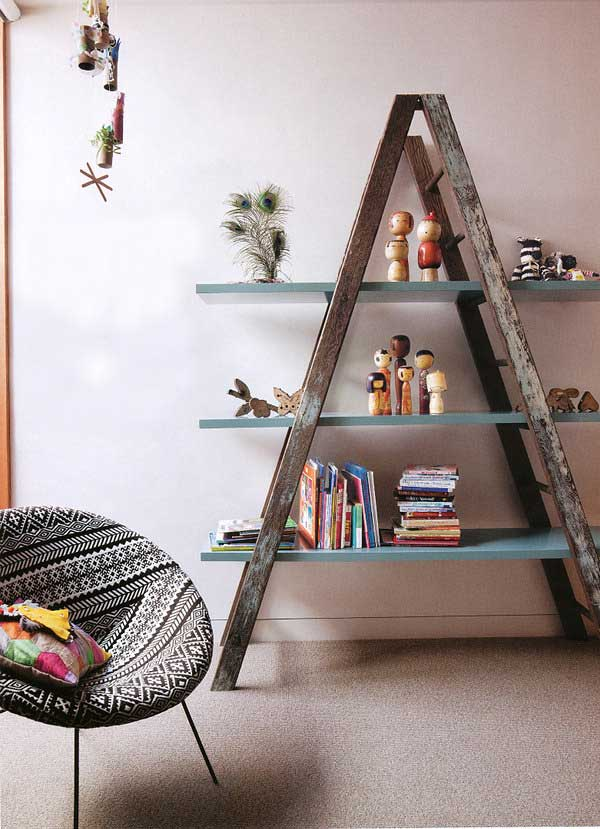 38 Ingenious Ways to Up-cycle Repurpose and Reuse Vintage Ladders homeshetics decor (26)