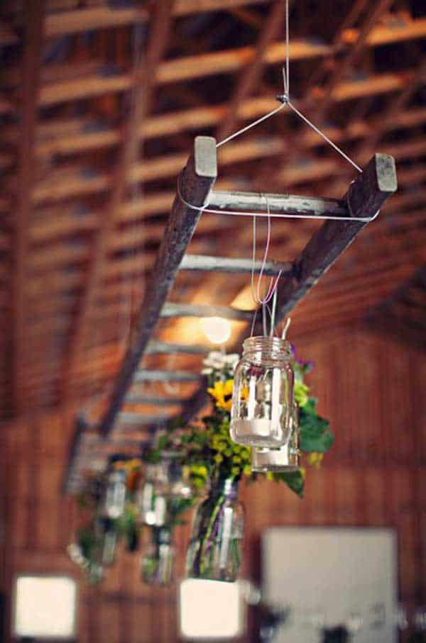 38 Ingenious Ways to Up-cycle Repurpose and Reuse Vintage Ladders homeshetics decor (28)
