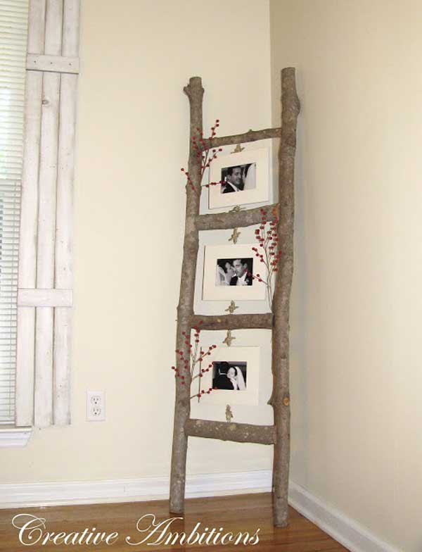 38 Ingenious Ways to Up-cycle Repurpose and Reuse Vintage Ladders homeshetics decor (4)