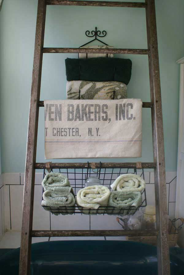 38 Ingenious Ways to Up-cycle Repurpose and Reuse Vintage Ladders homeshetics decor (6)