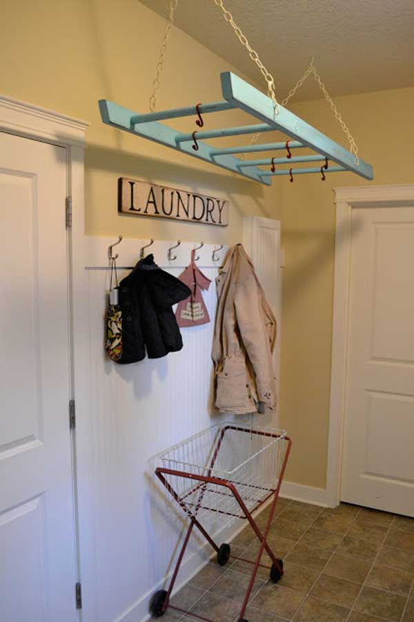 38 Ingenious Ways to Up-cycle Repurpose and Reuse Vintage Ladders homeshetics decor (8)