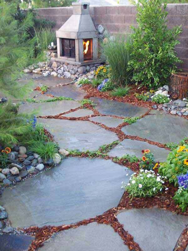 41 Ingenious and Beautiful DIY Garden Path Ideas To Realize in Your Backyard homesthetics backyard landscaping (22)
