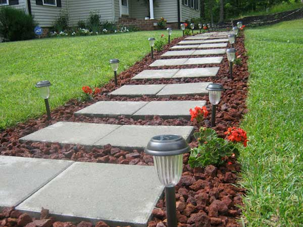 41 ingenious and beautiful diy garden path ideas to for Garden path ideas