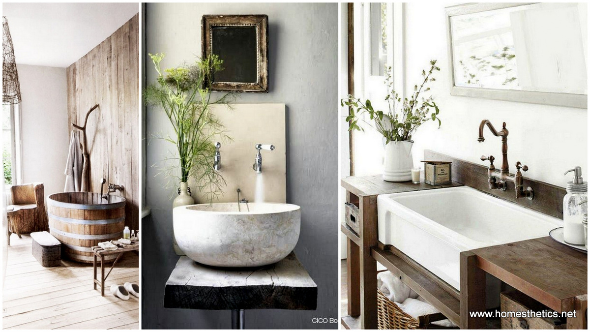 17 rustic and natural bathroom inspiration ideas for Bathroom inspiration for small bathrooms