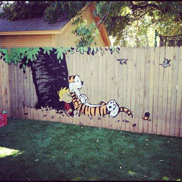 Get Creative With These 23 Fence Decorating Ideas and ... on Backyard Wooden Fence Decorating Ideas id=55710