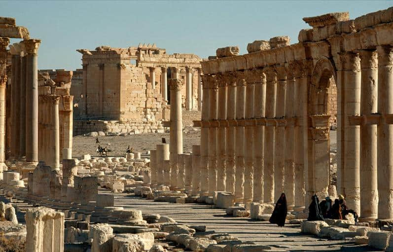 Palmyra in Syria -Colonnade