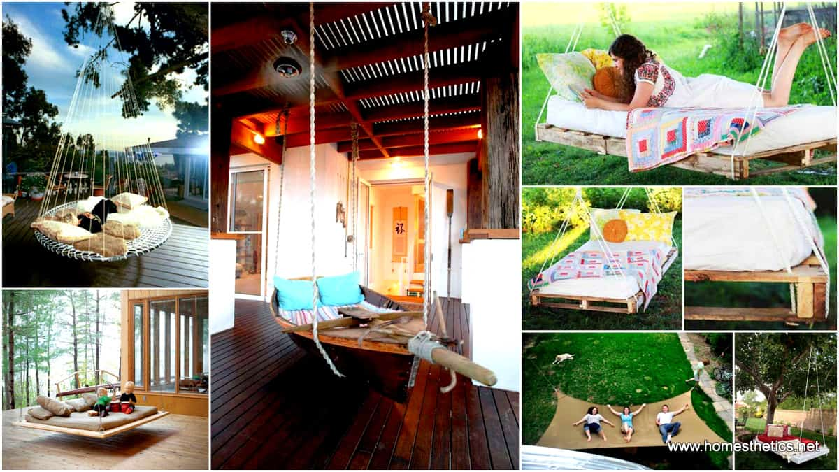 19 Relaxing Suspended Outdoor Beds That