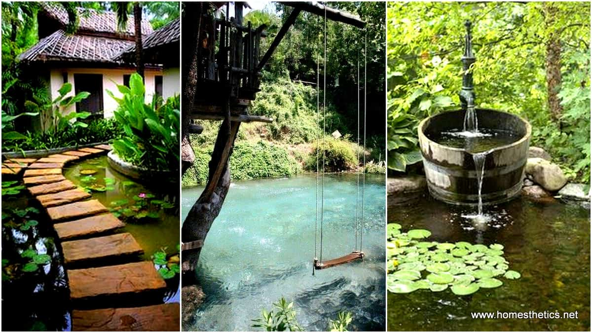 19 simply breathtaking backyard pond designs to materialize